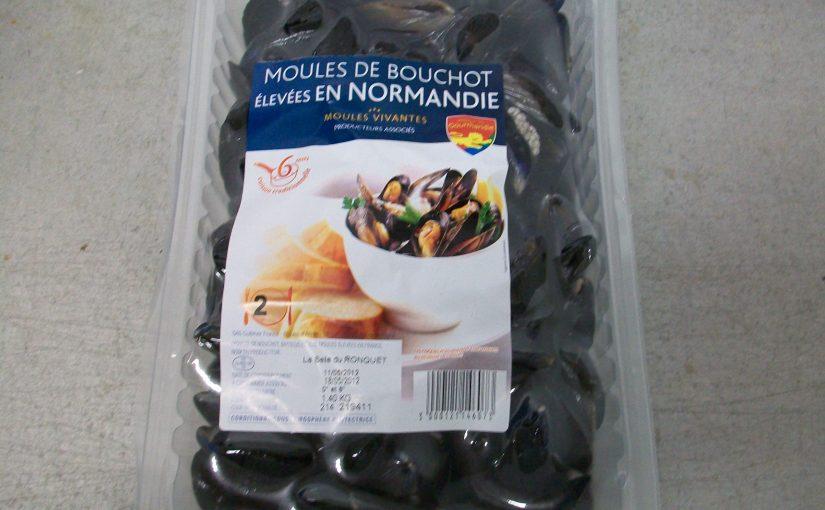 Moules de bouchots élevées en Normandie