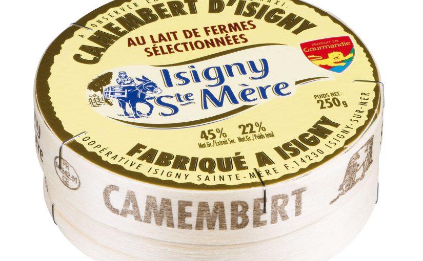 Camembert d'Isigny au lait de fermes sélectionnées fabriqué à Isigny