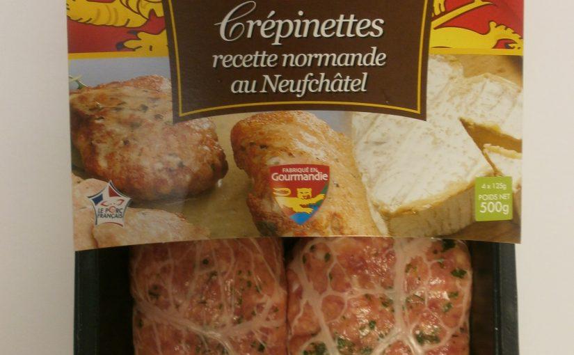 Crépinettes recette Normande au Neufchâtel
