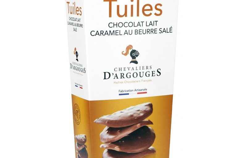 Tuiles chocolat lait caramel au beurre salé