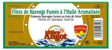 Filets de harengs fumés à l'huile aromatisée La Mère Angot