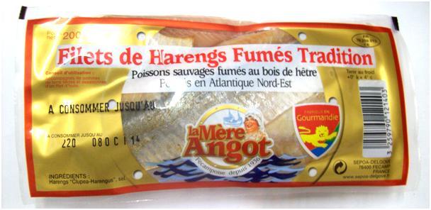 Filets de harengs fumés tradition La Mère Angot