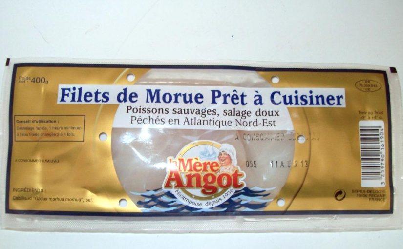 Filet de morue prêt à cuisiner La Mère Angot