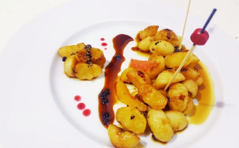 Navets confits aux agrumes et miel de Normandie