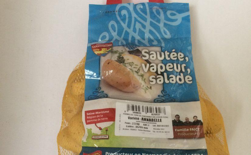Pomme de terre sautée, salade, vapeur