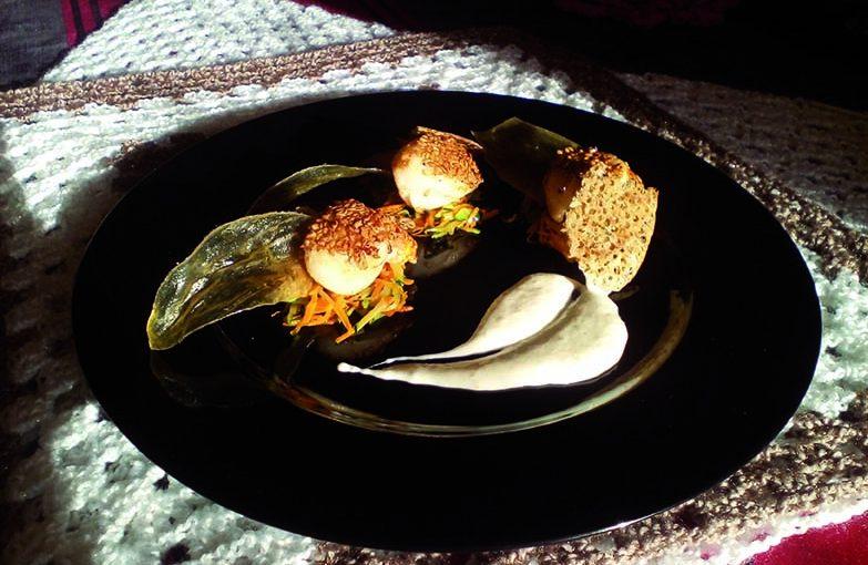 Coquilles saint-jacques poêlées aux graines de lin