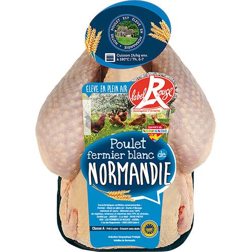 Poulet fermier blanc «Le Fermier Normand» Label Rouge IGP