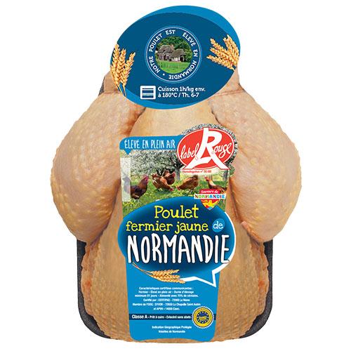 Poulet fermier jaune «Le Fermier Normand» Label Rouge IGP