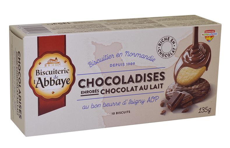 Chocoladises – Sablés au chocolat au lait au bon beurre d'Isigny AOP