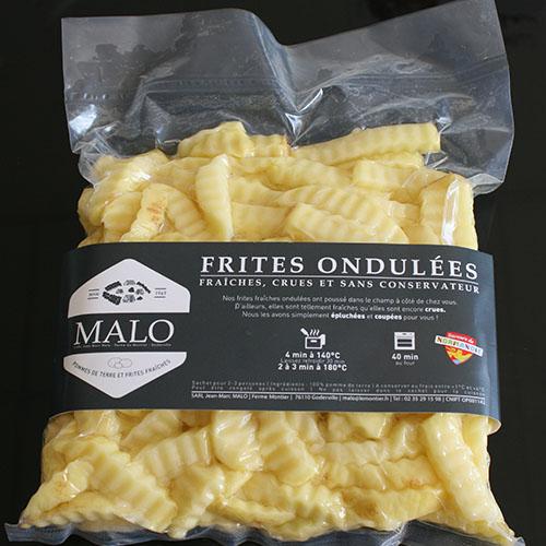 Frites fraîches ondulées 1kg